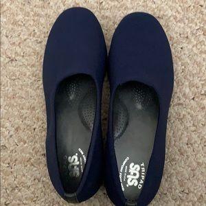 Navy Blue SAS comfortable slip ons